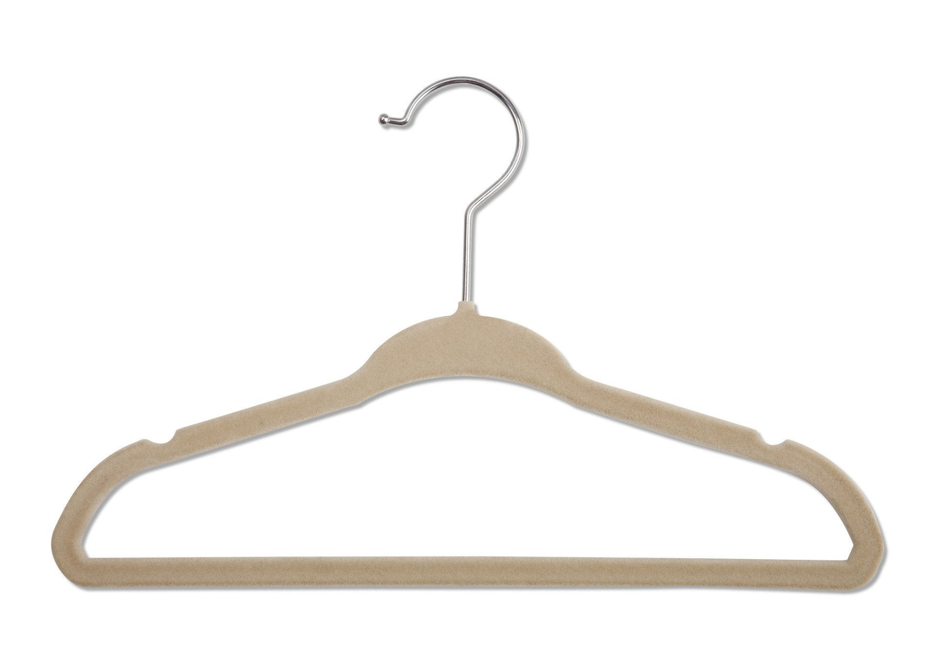 Delta Children Beige (250) 5 Pack Velvet Hangers, Single View b1b