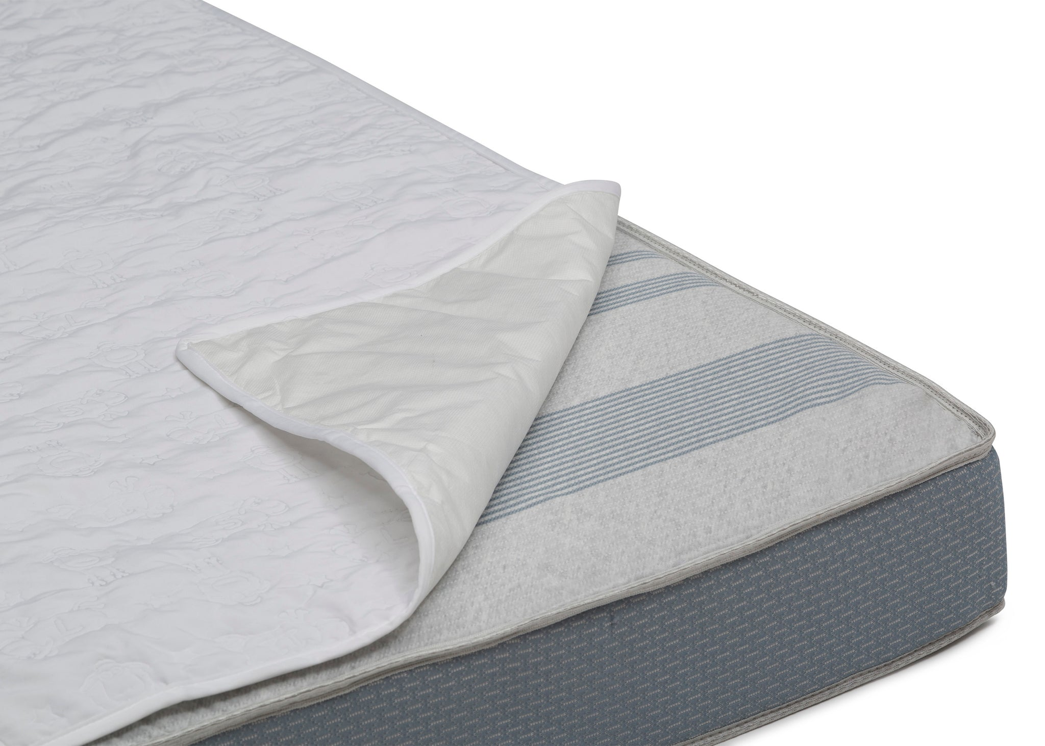 Sertapedic Crib Mattress Liner Pads (Pack of 2) Corner View