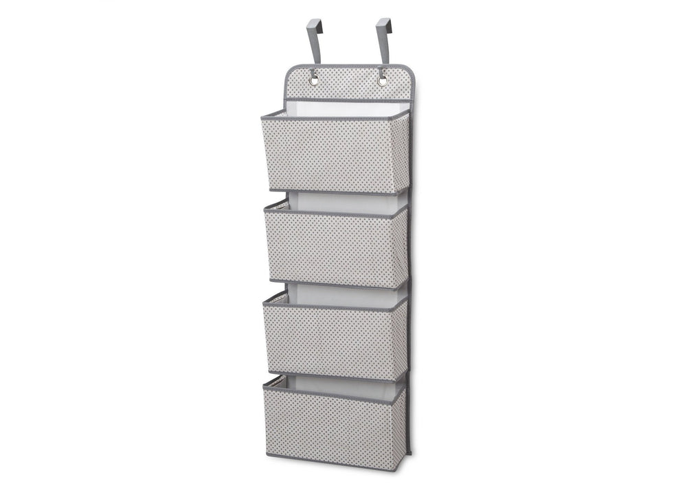 Delta Children Infinity Light Grey (063) 4-Pocket Hanging Wall Organizer b2b