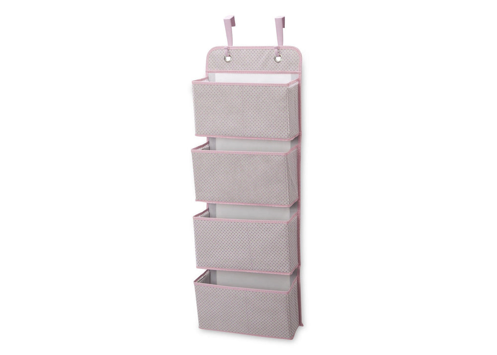 Delta Children Infinity Pink (693) 4-Pocket Hanging Wall Organizer c2c