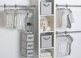 Delta Children Cool Grey (063) 48 Piece Nursery Storage Set, Side View b1b