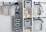 Delta Children Navy (417) 48 Piece Nursery Storage Set, Side View d1d