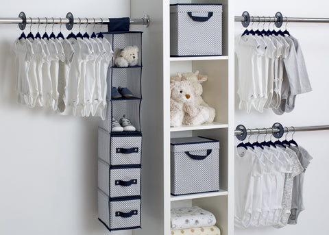 48 Piece Nursery Storage Set (Navy) - bundle