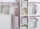 Delta Children Infinity Pink (693) 48 Piece Nursery Storage Set, Side View e1e
