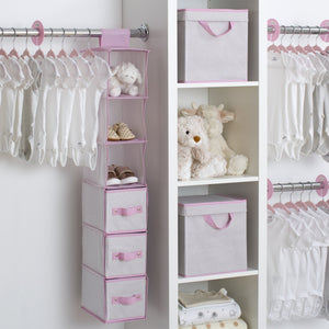 48 Piece Nursery Storage Set (Infinity Pink)
