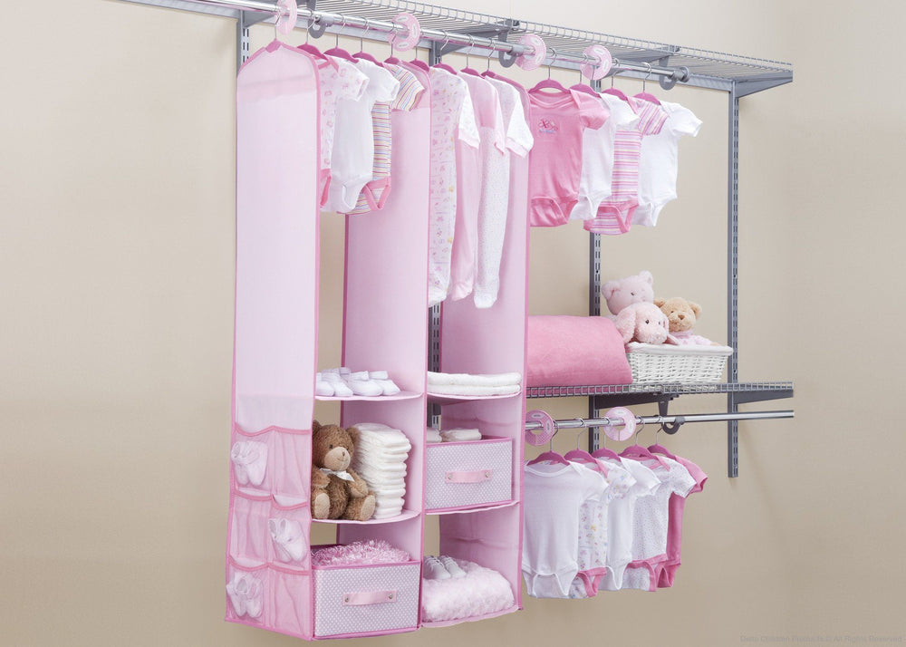 Delta Children Barely Pink (689) 24 Piece Nursery Storage Set, Room, e1e