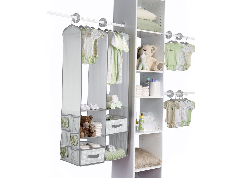 Delta Children Dove Grey (058) 48-Piece Nursery Storage Set (SS2056), Room, a1a