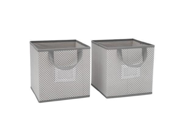 Delta Children Grey (063) 2-Piece Storage Cube Set (SS2155), b1b