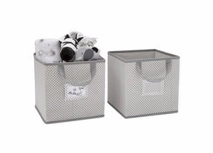 Delta Children Grey (063) 2-Piece Storage Cube Set (SS2155) with Props, b2b