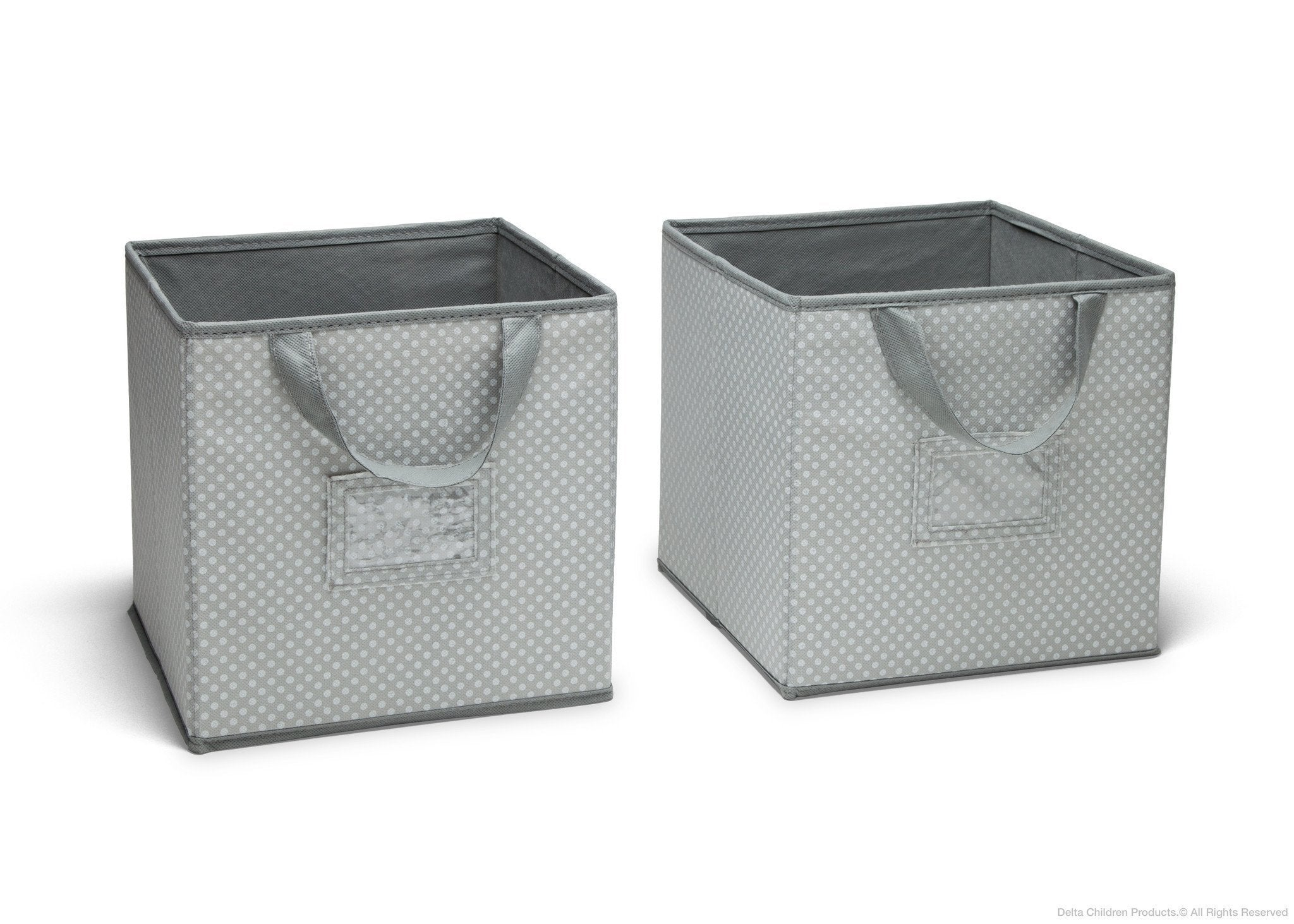 Delta Children Dove Grey (058) 2-Piece Storage Cube Set (SS2155), a1a
