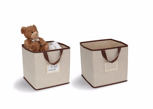 Delta Children Dove Beige (250) 2-Piece Storage Cube Set (SS2155) with Props c2c