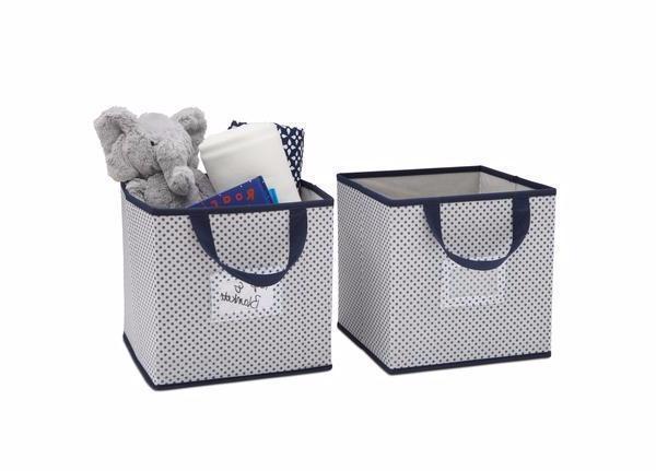 Delta Children Navy (417) 2-Piece Storage Cube Set (SS2155) with Props, d2d