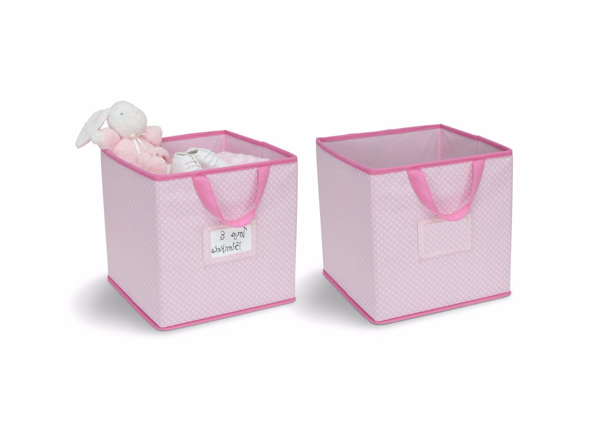 Delta Children Barely Pink (689) 2-Piece Storage Cube Set (SS2155) with props, f2f