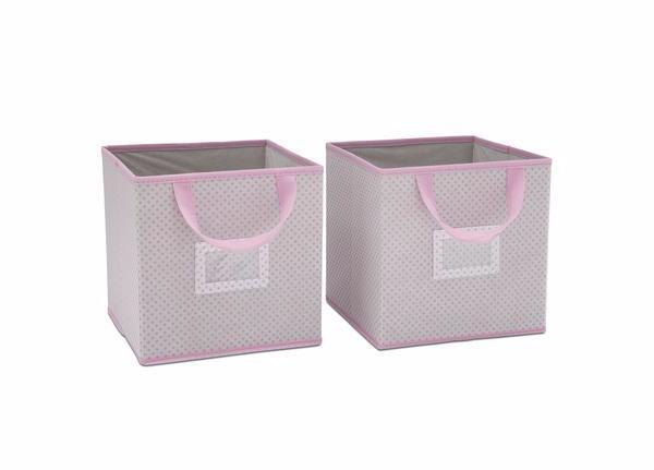 Delta Children Infinity Pink (693)2-Piece Storage Cube Set (SS2155), e1e