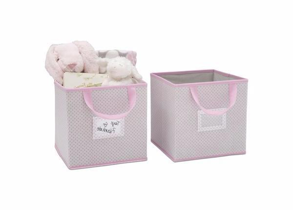 Delta Children Infinity Pink (693) 2-Piece Storage Cube Set (SS2155, e2e