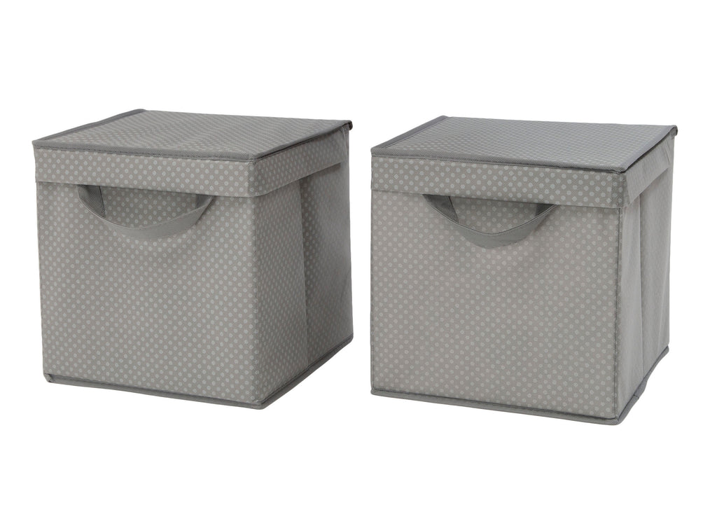 Delta Children Dove Grey (058) 2-Pack Lidded Storage Bins (SS2165)  sc 1 st  Delta Children & 2-Pack Lidded Storage Bins | Delta Children