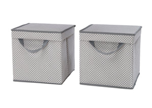 Delta Children Cool Grey (063) 2-Pack Lidded Storage Bins (SS2165), Details, b2b