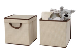 Delta Children Beige (250) 2-Pack Lidded Storage Bins (SS2165), Silo with props, c3c