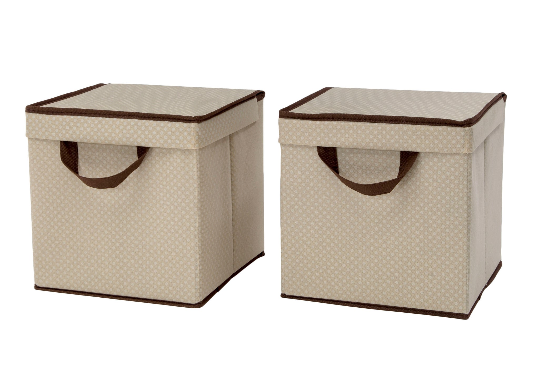 Delta Children Beige (250) 2-Pack Lidded Storage Bins (SS2165), Hangtag, c2c