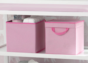 Delta Children Barely Pink (689) 2-Pack Lidded Storage Bins (SS2165), Details, d1d