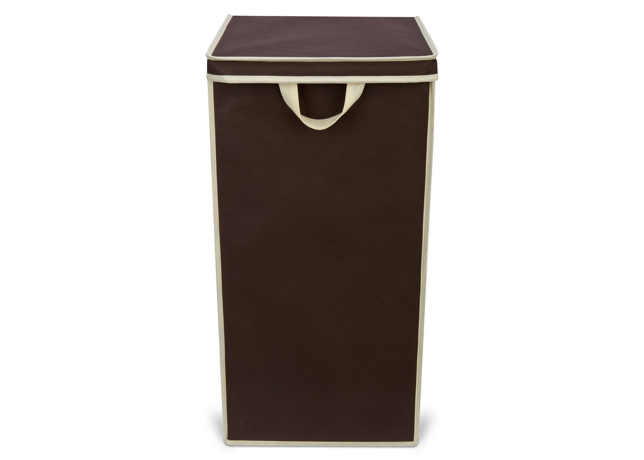 Delta Childern Chocolate (204) Tall Hamper, Front View a2a