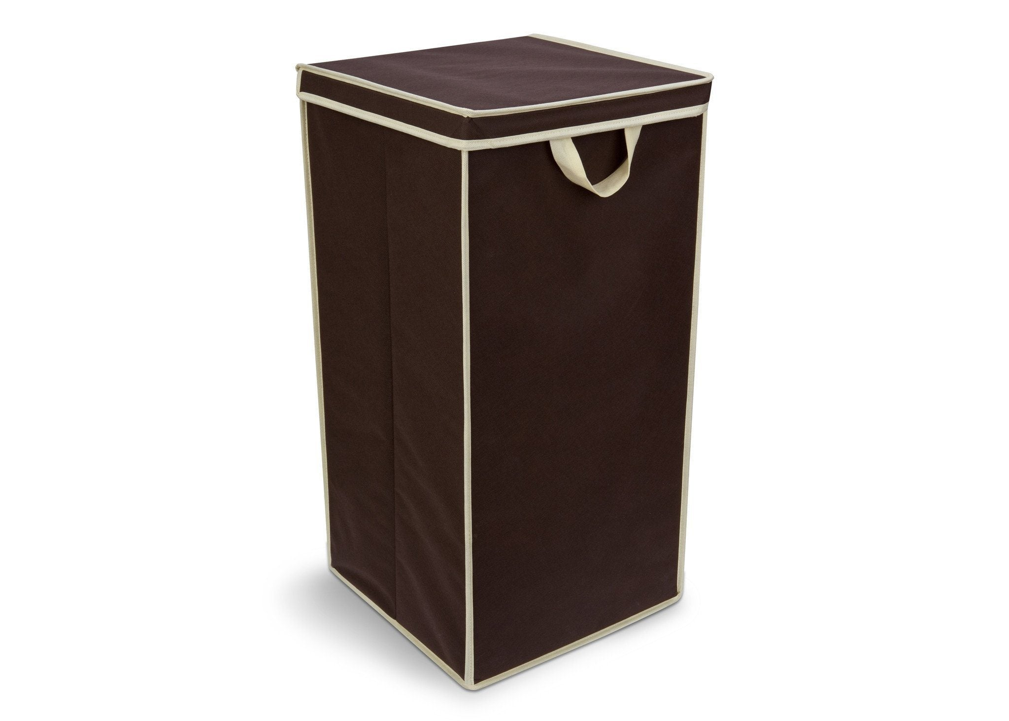 Delta Childern Chocolate (204) Tall Hamper, Side View a1a