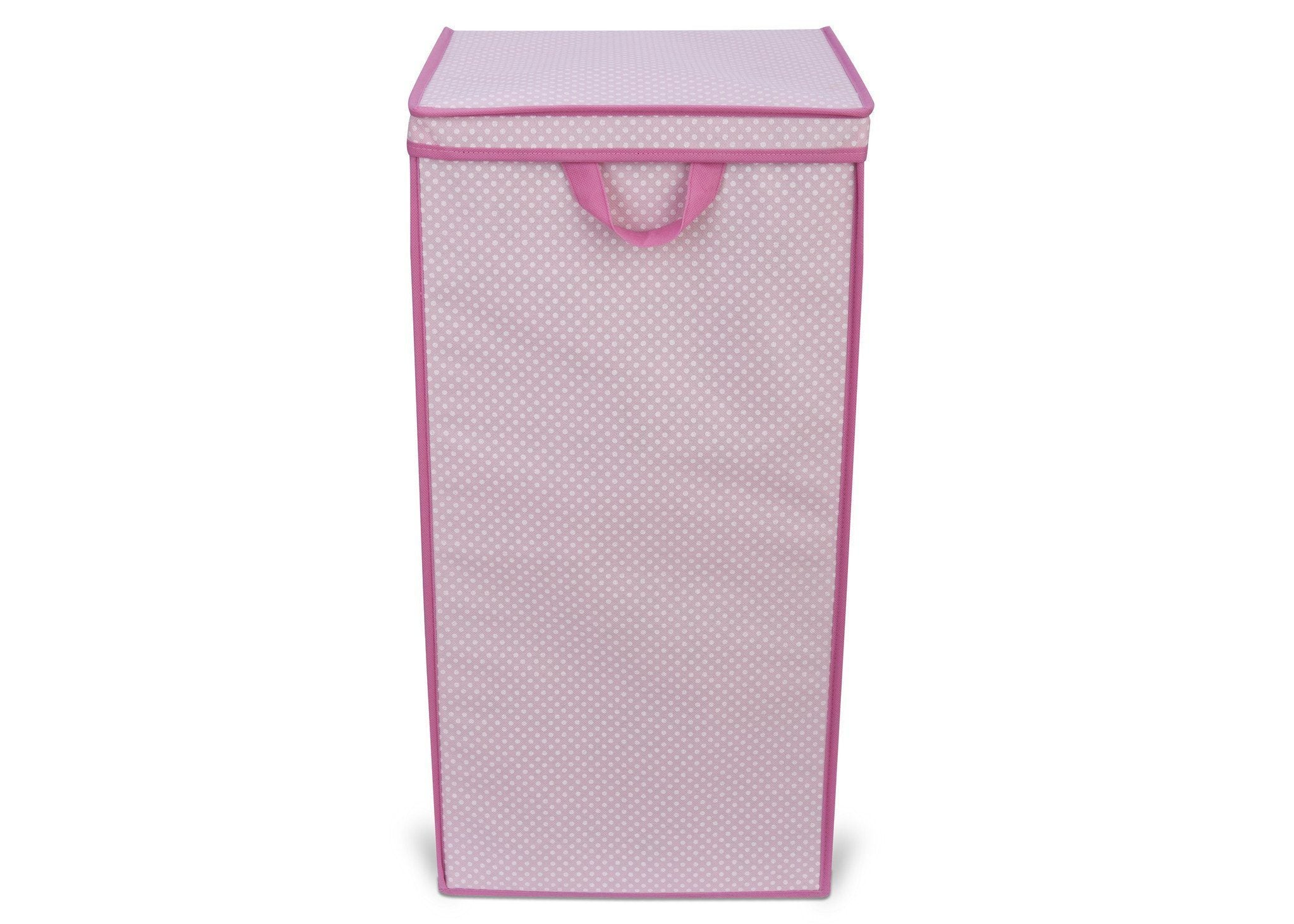 Delta Childern Barely Pink (689) Tall Hamper, Front View c2c