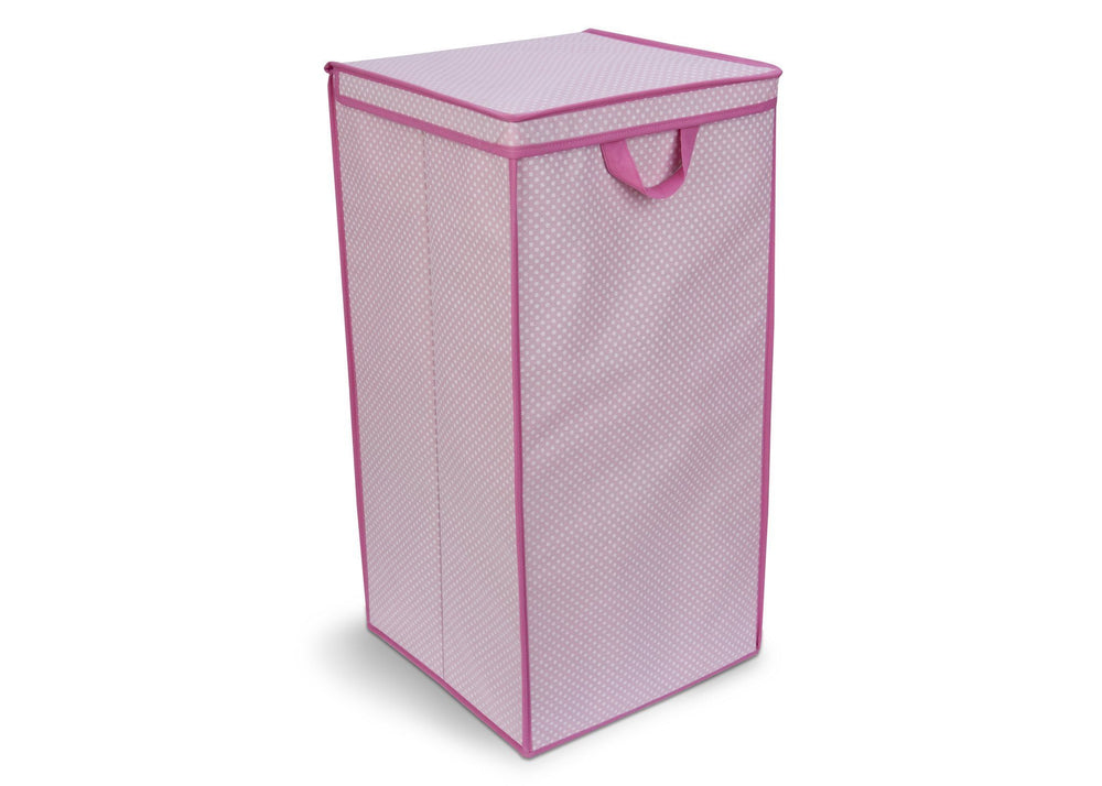 Delta Childern Barely Pink (689) Tall Hamper, Side View c1c