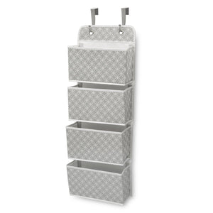 Delta Children Infinity Grey (063) Deluxe Water-Resistant 4 Pocket Hanging Wall Organizer b2b