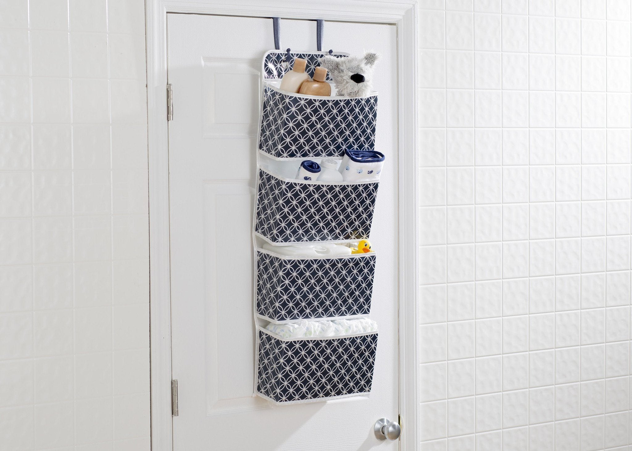 Delta Children Infinity Navy (417) Deluxe Water-Resistant 4 Pocket Hanging Wall Organizer d1d