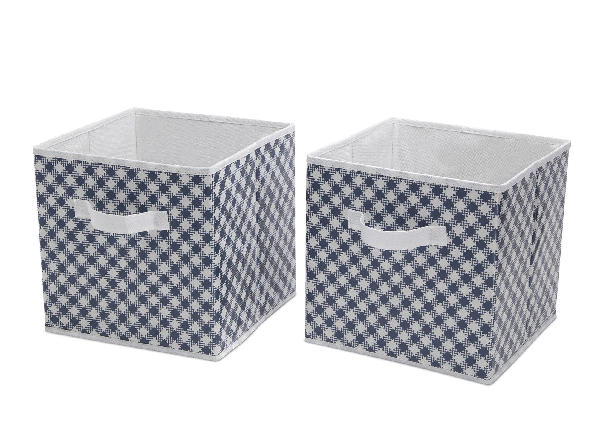 Delta Children Gingham Navy (404) 2 Deluxe Water-Resistant Storage Cubes b2b