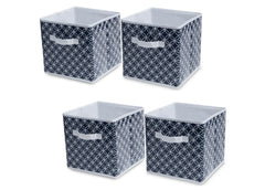 Delta Children Infinity/Navy (417) 4-Pack Deluxe Water-Resistant Storage Cubes (SS2558), Silo, d1d