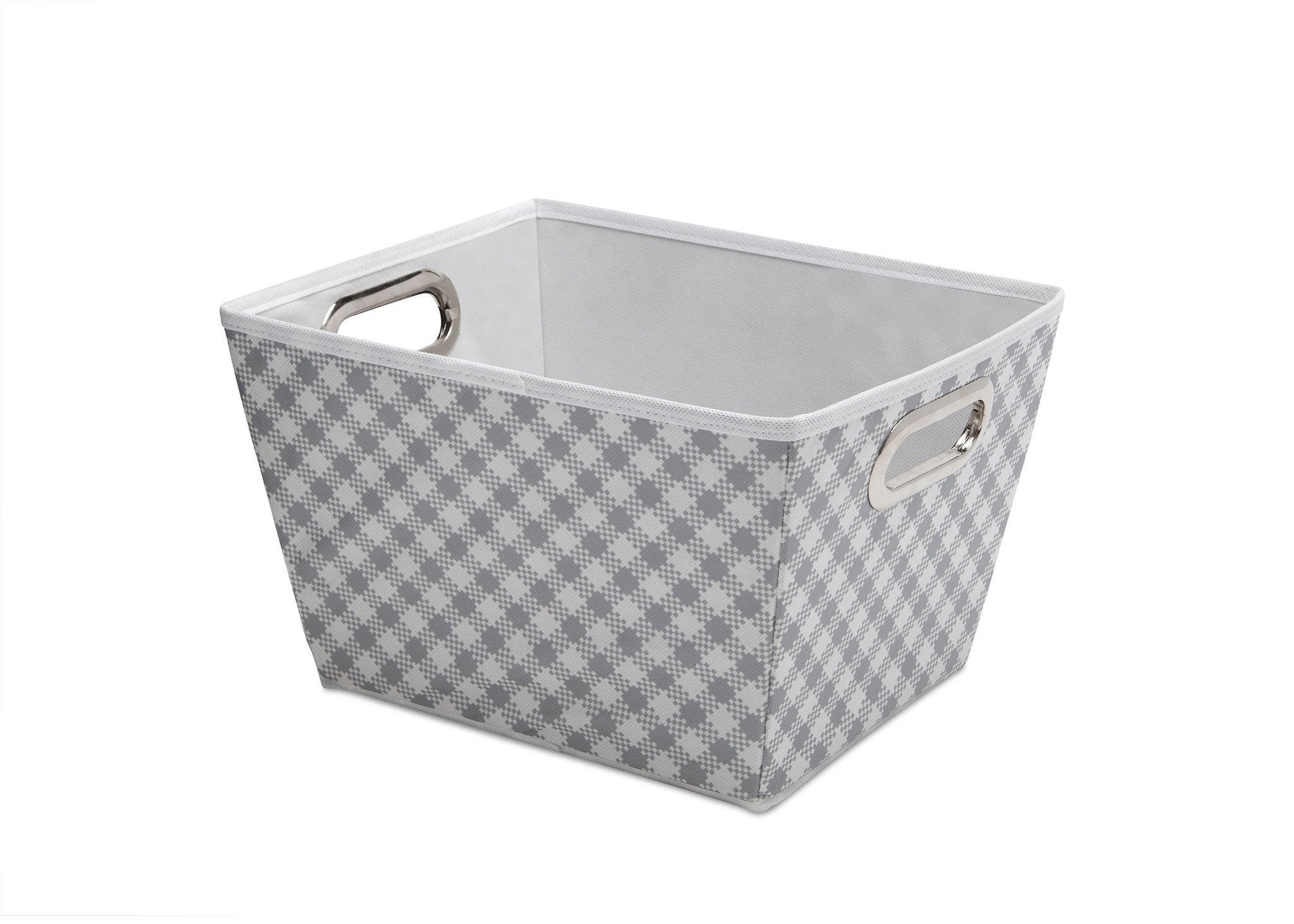 Delta Children Gingham Grey (058) Deluxe Water-Resistant Rectangle Tapered Tote a2a