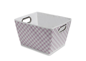 Gingham Pink (689) Deluxe Water-Resistant Rectangle Tapered Tote e2e