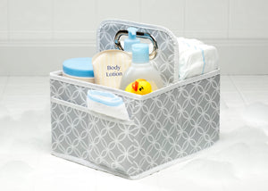 Delta Children Cool Grey (063) Water-Resistant Portable Nursery Caddy (SS2578), Details, a1a