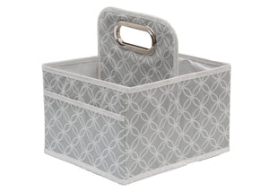 Delta Children Cool Grey (063) Water-Resistant Portable Nursery Caddy (SS2578), Hangtag, a2a