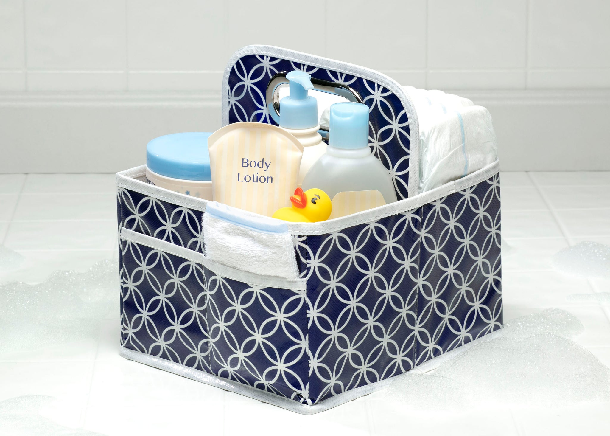 Delta Children Navy (417) Water-Resistant Portable Nursery Caddy (SS2578), Details b1b