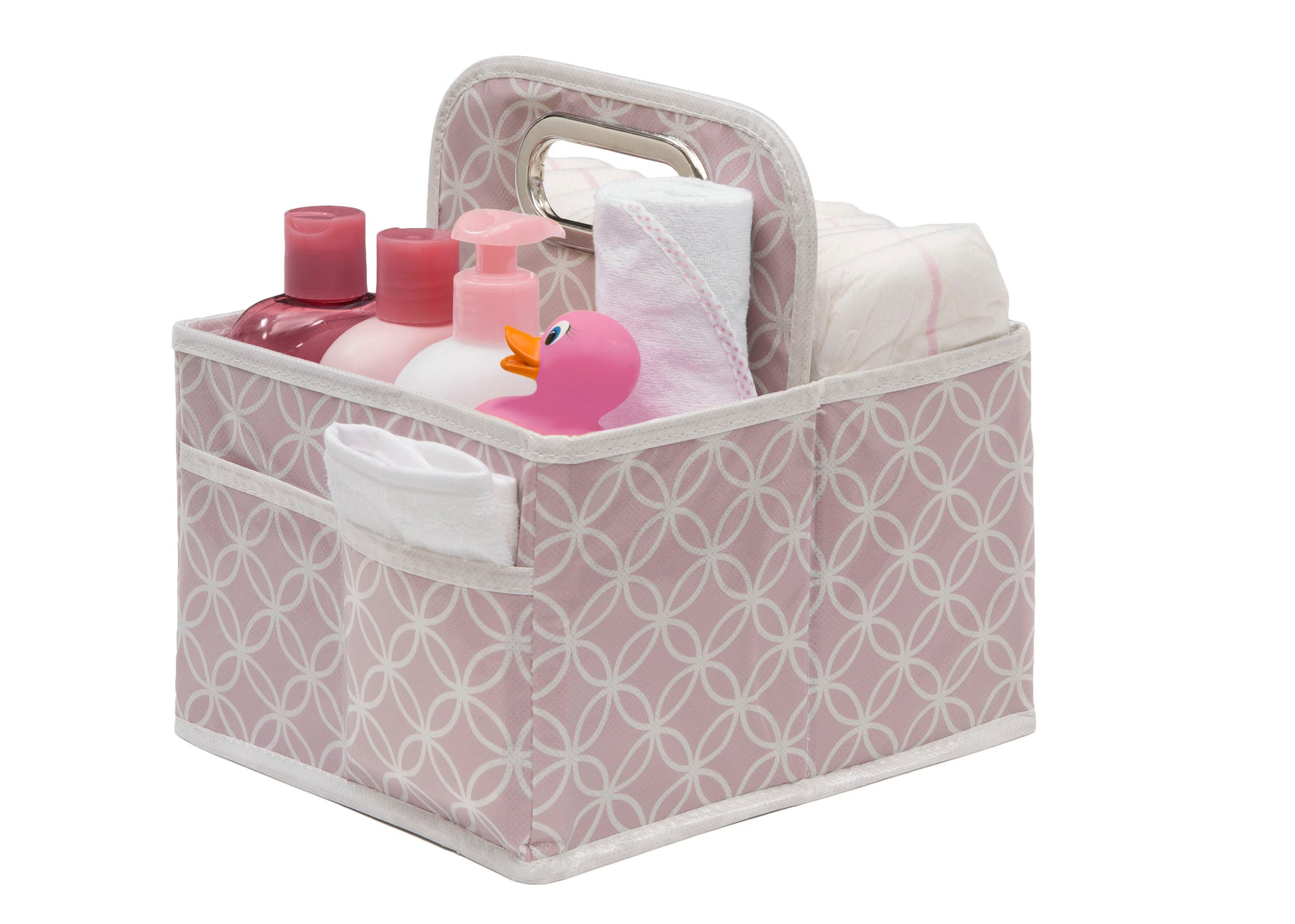 Delta Children Pink Polka Dot (693) Water-Resistant Portable Nursery Caddy (SS2578), Props c3c