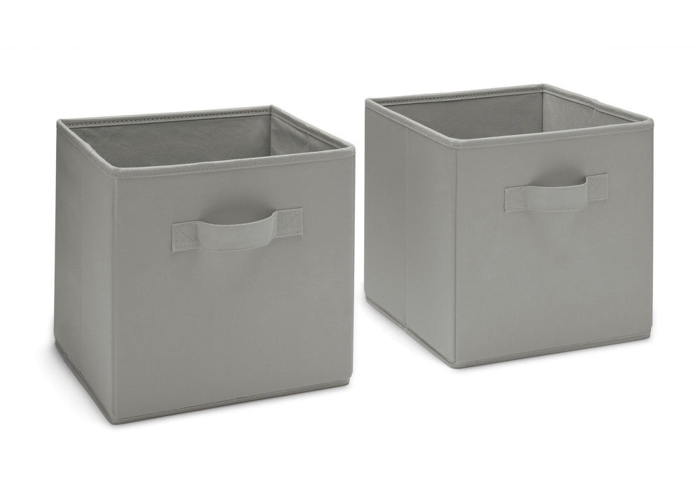 Delta Children Grey (026) 2 Storage Cubes a2a
