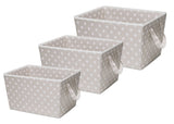 Delta Children Taupe Dot (055) Set of Three Tapered Totes Set View a2a