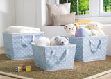 Delta Children Blue Dot (475) Set of Three Tapered Totes in Setting b1b