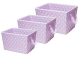 Delta Children Lavender Dot (533) Set of Three Tapered Totes Set View d2d