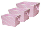 Delta Children Pink Dot (693) Set of Three Tapered Totes Set View e2e