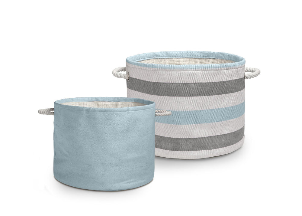 Delta Blue/Grey (938) Round Rattan Bins Main View d2d