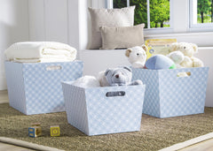 Delta Children Blue Geo (477) Set of Three Deluxe Totes b1b