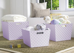 Delta Children Lavender Geo (532) Set of Three Deluxe Totes d1d