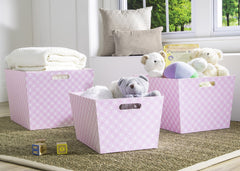 Delta Children Pink Geo (694) Set of Three Deluxe Totes c1c