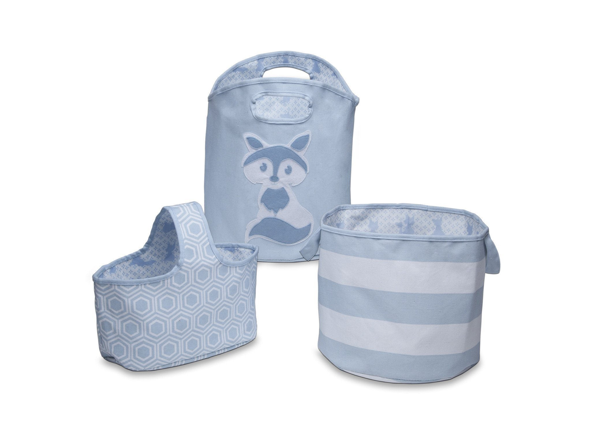 Delta Children's Blue (427) 3 Piece Character Storage Set, Front View b1b