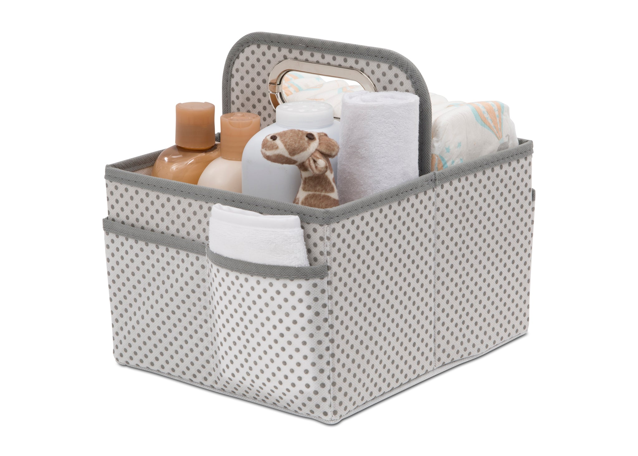 Delta Children Cool Grey (063) Portable Nursery Caddy b2b