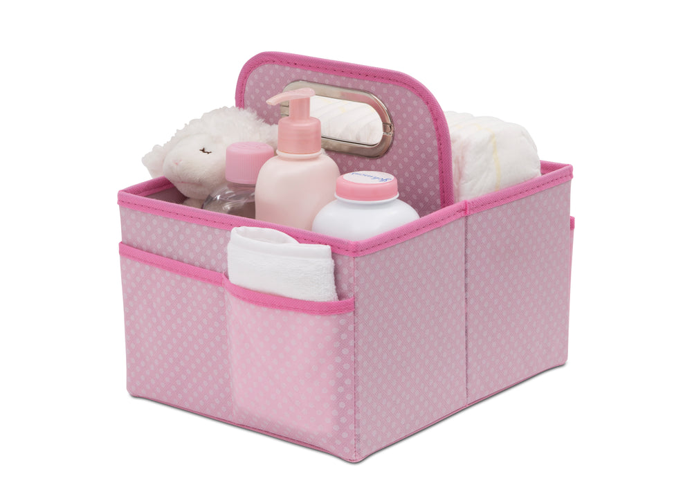 Delta Children Barely Pink (689) Portable Nursery Caddy e2e